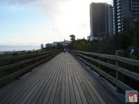 mid-beach boardwalk