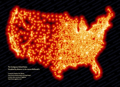 distribution of mcdonalds in USA