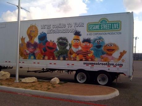 sesame street truck