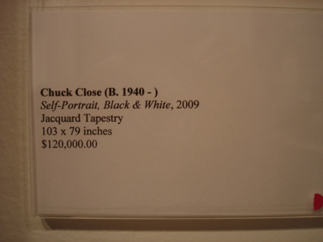 chuck close price tag