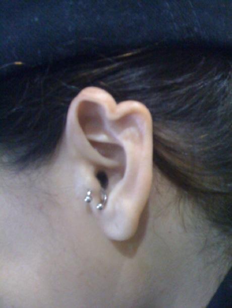 heart-shaped ear